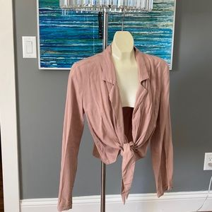 NWT NAKED WARDROBE So Tied Up Cropped Blouse